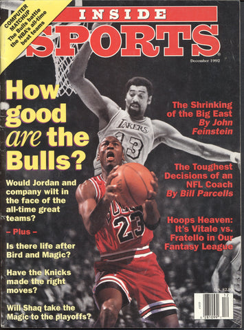 December 1992 Inside Sports Magazine Mark Messier Chicago Bulls Michael Jordan NBA NFL Riddick Bowe