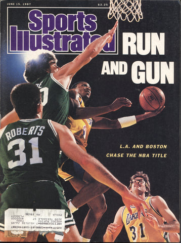 June 15, 1987 Sports Illustrated Magazine NBA Finals Los Angeles Lakers Boston Celtics Andre Dawson Kirby Puckett