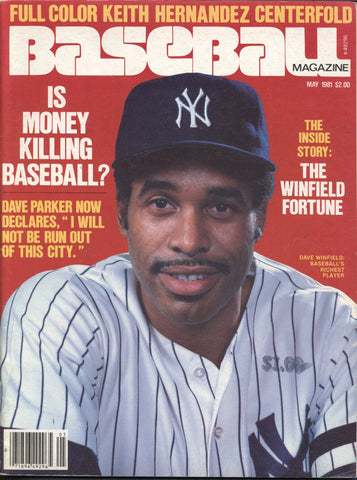 May 1981 Baseball Magazine MLB Dave Winfield Dave Parker Cecil Cooper Reggie Jackson