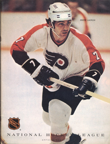 February 10, 1971 Philadelphia Flyers - 3 @ Pittsburgh Penguins - 5 Bobby Clarke Andre Lacroix
