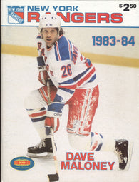 December 21, 1983 Pittsburgh Penguins - 1 @ New York Rangers - 6 Program Randy Carlyle Mark Pavelich
