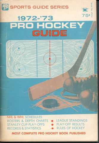 1972-73 NHL WHA Pro Hockey Guide Montreal Canadiens California Seals Philadelphia Blazers