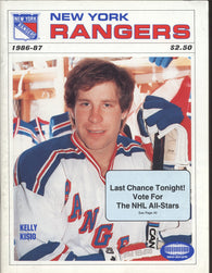 December 31, 1986 New York Islanders - 3 @ New York Rangers - 4  Program Mike Bossy Kelly Kisio