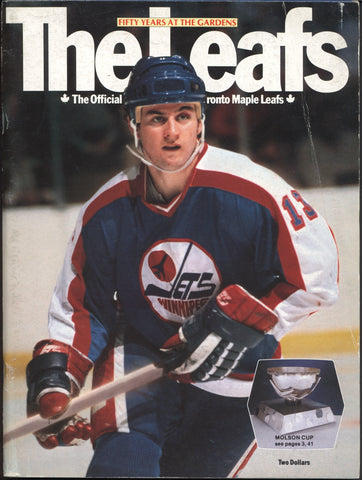 March 13, 1982 Winnipeg Jets - 10 @ Toronto Maple Leafs - 2 Dale Hawerchuk Borje Salming Serge Savard