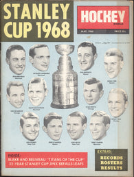 May 1968 Hockey World Magazine Stanley Cup Jean Beliveau Montreal Canadiens New York Rangers