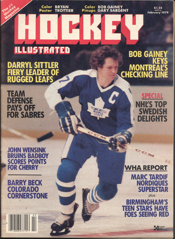 February 1979 Hockey Illustrated NHL Hockey Magazine Darryl Sittler Bob Gainey WHA Barry Beck