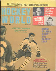 March 1971 Hockey World Magazine Gilbert Perreault Gilles Villemure Wayne Cashman Norm Ullman