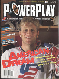 September/October 1996 PowerPlay Magazine Brett Hull Team USA Adam Oates Alexei Zhamnov Patrick Roy