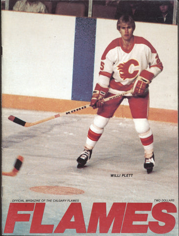 March 12, 1981 Minnesota North Stars - 3 @ Calgary Flame - 6 Program Dino Ciccarelli Bill Clement