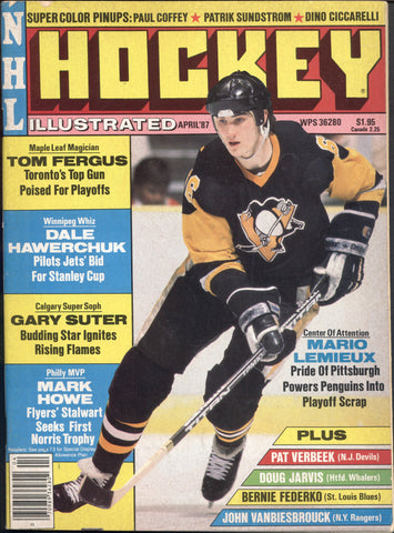 April 1987 NHL Hockey Illustrated NHL Magazine Mario Lemieux Denis Savard Mark Messier