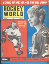 January 1970 Hockey World Magazine Keith Magnuson Bobby Orr Bobby Clarke Jean Ratelle