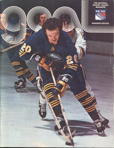 March 5, 1975 Buffalo Sabres - 6 @ New York Rangers - 3 GOAL Program Ed Giacomin Jean Ratelle