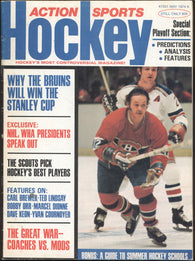 May 1974 NHL Action Sports Hockey Magazine Boston Bruins Bobby Orr Yvon Cournoyer WHA