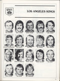 October 17, 1975 Los Angeles Kings - 5 @ Vancouver Canucks - 3 Program Harold Snepsts Rogie Vachon