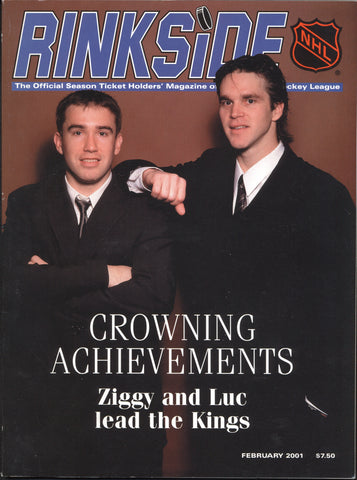 February 2001 NHL Rinkside Hockey Magazine Luc Robitaille Ziggy Palffy Tony Amonte Dominik Hasek