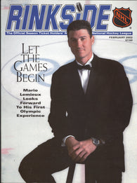 February 2002 NHL Rinkside Hockey Magazine Mario Lemieux Jari kurri Tom Barrasso Herb Brooks