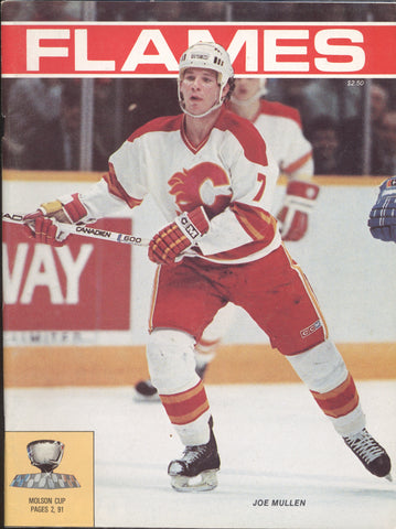 February 27, 1986 Philadelphia Flyers - 4 @ Calgary Flames - 7 Program Mark Howe Al McInnis
