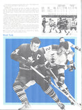 October 17, 1970 New York Rangers - 6 @ Toronto Maple Leafs - 2 Program Jacques Plante Brad Park