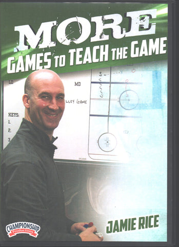 More Games to Teach the Game with Jamie Rice, Babson College Head Coach; 2x ECAC East Coach of the Year; 4x ECAC East Tournament Champions