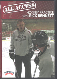 All Access Hockey Practice with Rick Bennett DVD Union College Head Coach; 2017 ECAC Coach of the Year - 2x ECAC Coach of the Year