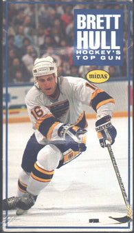 Brett Hull Hockey's Top Gun VHS Tape The Golden Brett St. Louis Blues
