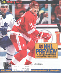 December 15, 1992 The Hockey News Inside Hockey NHL Preview Magazine Steve Yzerman Peter Zezel