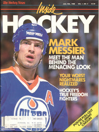 January February 1988 THN Inside Hockey NHL Magazine Mark Messier Jimmy Carson Tiger Williams