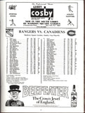 May 1986 Montreal Canadiens @ New York Rangers Playoff Program Patrick Roy John Vanbiesbrouck