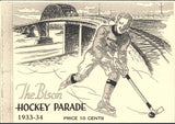 1933-34 Buffalo Bisons IHL Team Media Guide Hockey Parade Booklet Players Bios Reproduction