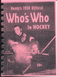1950 Who's Who in Hockey Reproduction Guide Sid Abel Detroit Red Wings