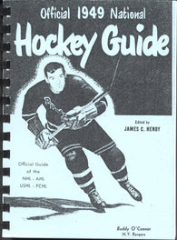 1949 Who's Who in Hockey Reproduction Guide Buddy O'Connor New York Rangers