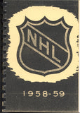 1958-59 NHL Press and Radio Guide & Who's Who in Hockey Reproduction Book