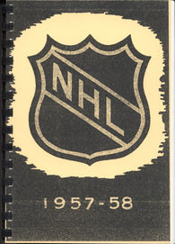 1957-58 NHL Press and Radio Guide & Who's Who in Hockey Reproduction Book