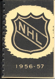 1956-57 NHL Press and Radio Guide & Who's Who in Hockey Reproduction Book