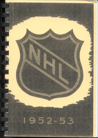 1952-53 NHL Press and Radio Guide & Who's Who in Hockey Reproduction Book