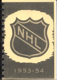 1953-54 NHL Press and Radio Guide & Who's Who in Hockey Reproduction Book