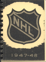 1947-48 NHL Press and Radio Guide Hockey Reproduction Book