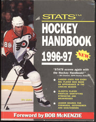1996-97  Edition The Stats Hockey Handbook of Pro Hockey Eric Lindros Statistics In-Depth Player Profiles
