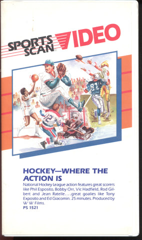 Hockey - Where The Action Is VHS Tape 1970's Action Phil Esposito Bobby Orr Rod Gilbert Oakland Seals