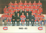 1982-83 Montreal Canadiens Team Picture Guy Lafleur Larry Robinson Bob Gainey