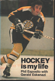 1972 Hockey Is My Life Phil Esposito Boston Bruins NHL Book Gerald Eskenazi Chicago Blackhawks Bobby Orr