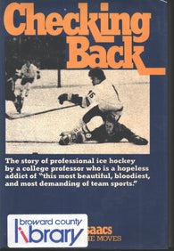 1977 Checking Back Book Story of Professional Hockey by a College Professor