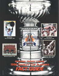 1996 National Hockey League Stanley Cup Playoffs Fact Guide Book Team by Team Playoffs Results