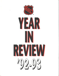 1992-93 NHL Year In Review Book Mario Lemieux Teemu Selanne Doug Gilmour Patrick Roy