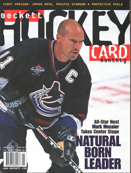 January 1998 Beckett Hockey Monthly Mark Messier Daniel Alfredsson Joe Sakic
