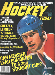 Fall 1990 Hockey Today NHL Magazine Mark Messier Wayne Gretzky Steve Yzerman