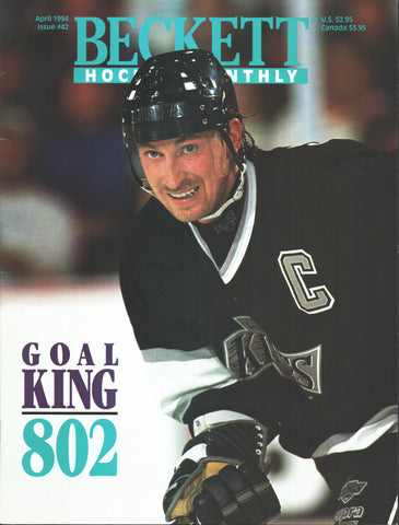 April 1994 Beckett Hockey Monthly Wayne Gretzky Los Angeles Kings Mike Richter Doug Gilmour