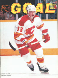December 22, 1985 Calgary Flames - 4 @ Chicago Blackhawks - 5  Program Al MacInnis Denis Savard