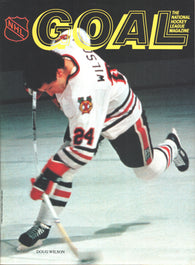 December 21, 1983 Philadelphia Flyers - 3 @ Chicago Blackhawks - 3  Program Bobby Clarke