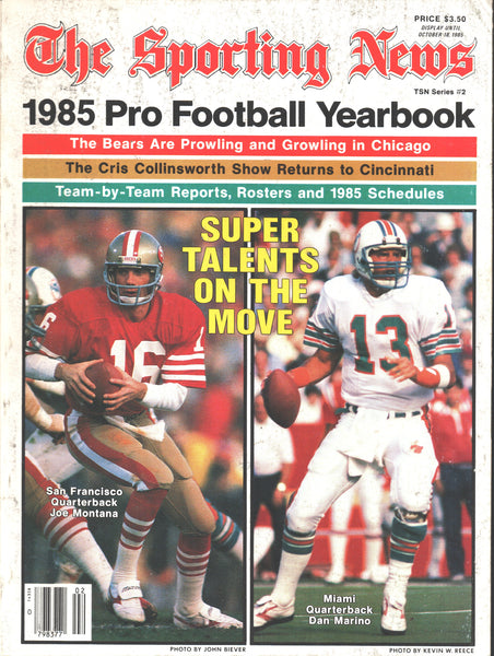 1985 NFL Pro Football Yearbook Magazine Joe Montana Dan Marino Cris Collinsworth